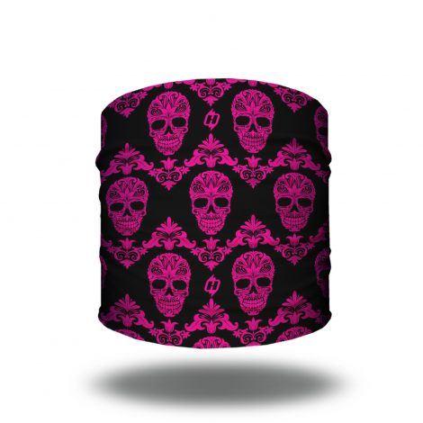 pink skulls bandana headband