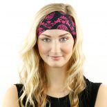 pink skulls headband bandana