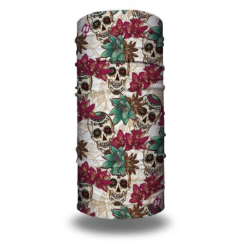 floral skulls bandana