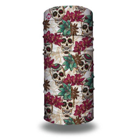 HRL23 floral skulls bandana