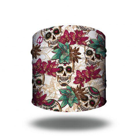 floral skulls bandana headband