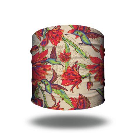 HRL24 hummingbird floral bandana_HALF