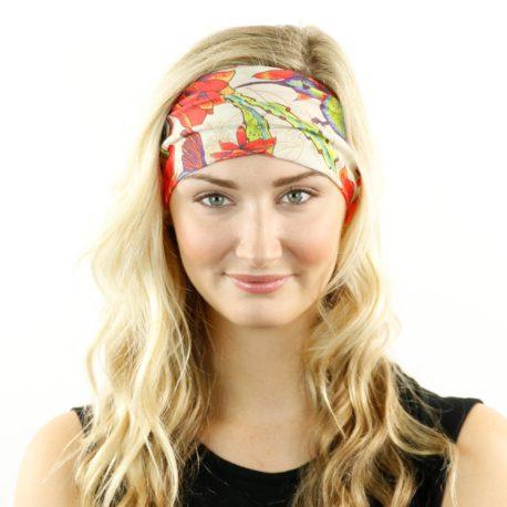 HRL24 hummingbird floral headband bandana