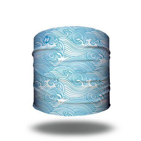 blue waves beach bandana headband