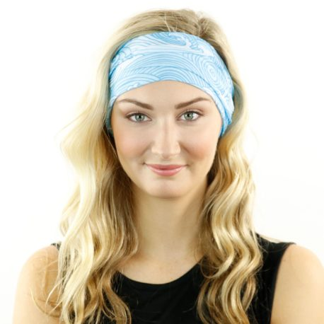 blue waves beach headband bandana