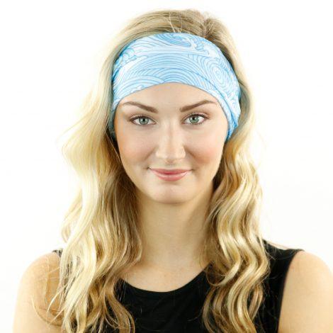 blue waves beach headband bandana 8c86585b8c4