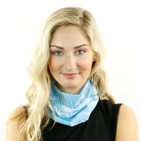 blue waves beach neck gaiter bandana