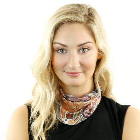 paisley swirls vintage neck gaiter bandana
