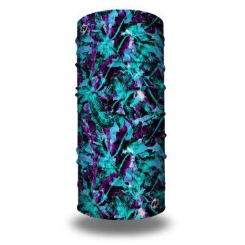 purple blue tropical miami headband bandana
