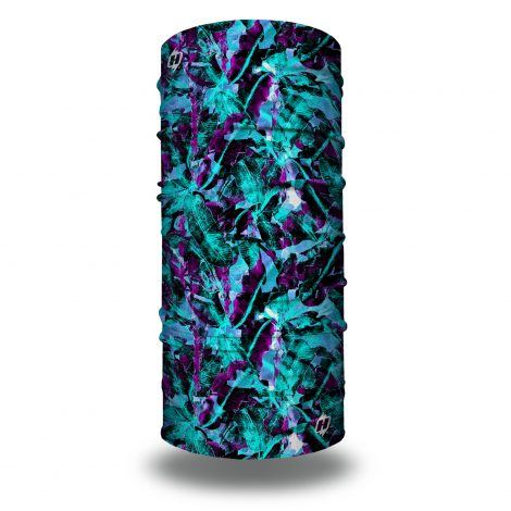 purple blue tropical miami headband bandana