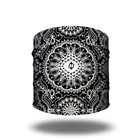 paisley mandala lace black headband bandana