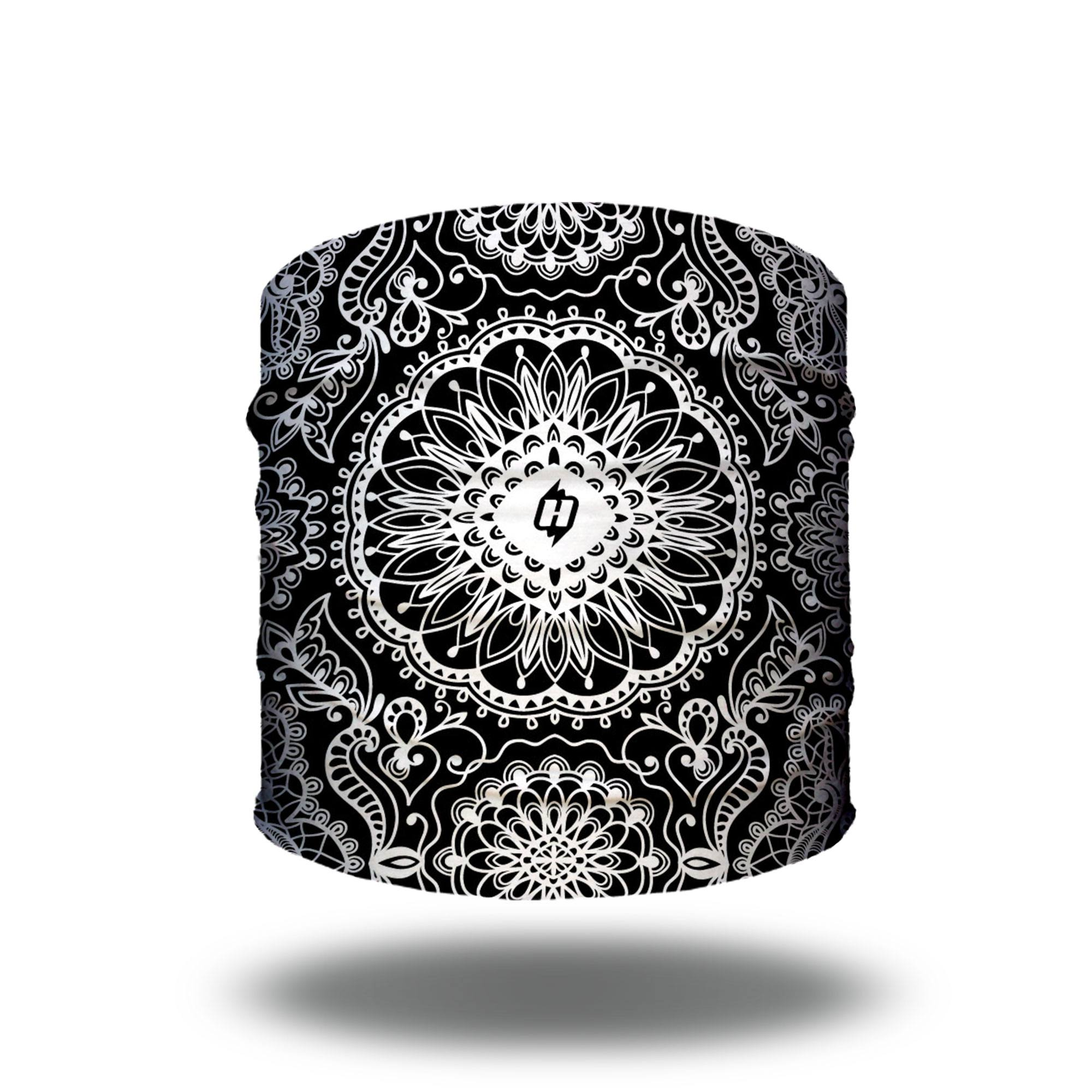 Black And White Lace Yoga Headband Bandanas By Hoo Rag