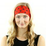 ladybug red black headband bandana