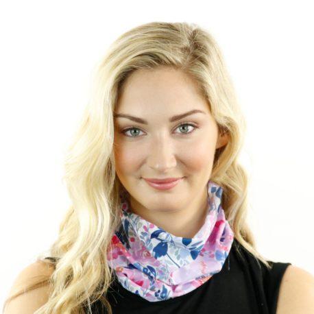 peony vintage floral neck gaiter bandana