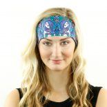 tribal mermaids teal headband bandana