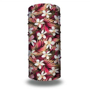 floral palms tropical pink headband bandana