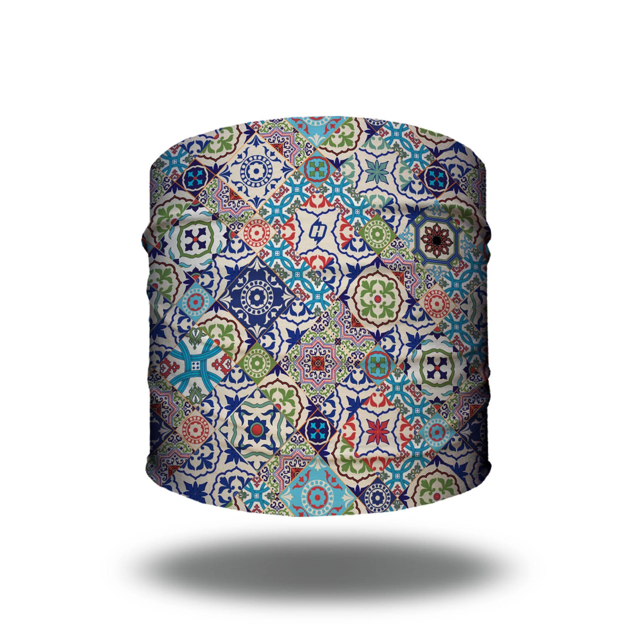 moroccan mediterranean tile bandana headband