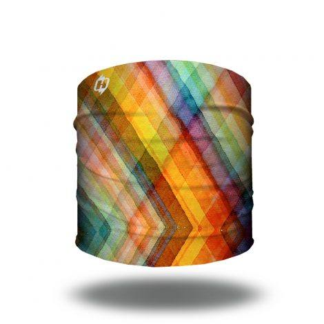 watercolor plaid bandana headband