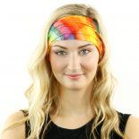 watercolor plaid headband bandana
