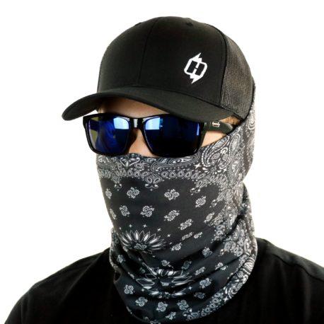 HRP01 black paisley face mask bandana