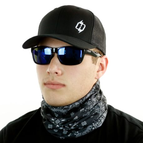 Black Paisley Headband from Hoo-rag. Just 9.95 | Wear it 4+ Ways (Like this Neck Gaiter!)