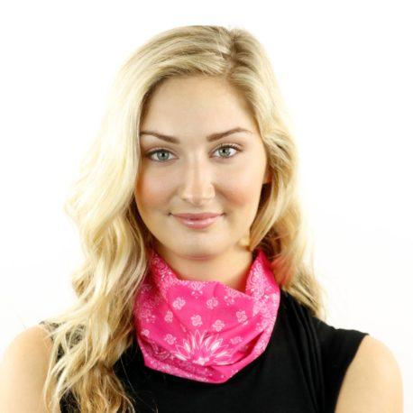 pink paisley neck gaiter bandana