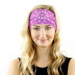 purple paisley headband bandana
