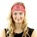 red paisley headband bandana
