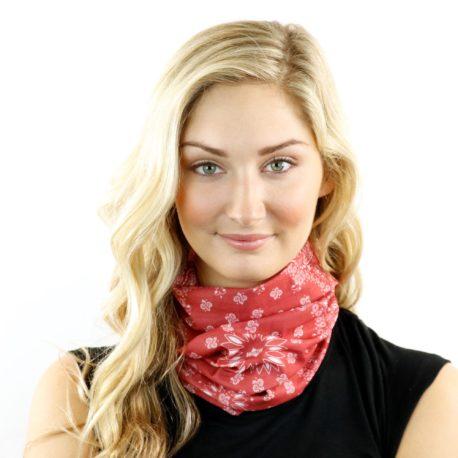 red paisley headband bandana