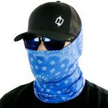 blue paisley face mask bandana