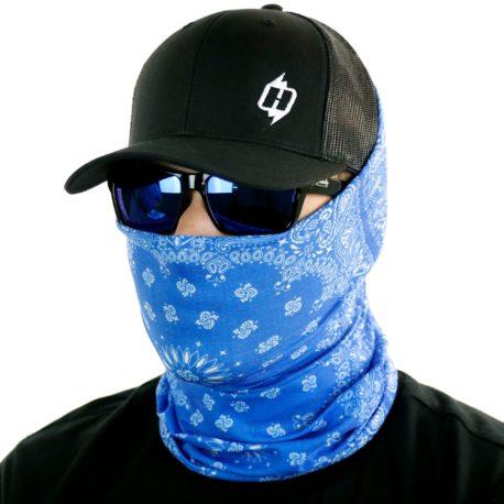 blue paisley face mask bandana
