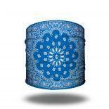 blue paisley headband bandana