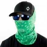 green paisley face mask bandana