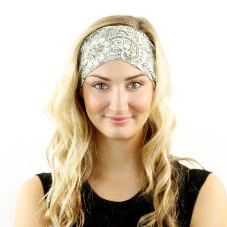 paisley doodle headband bandana