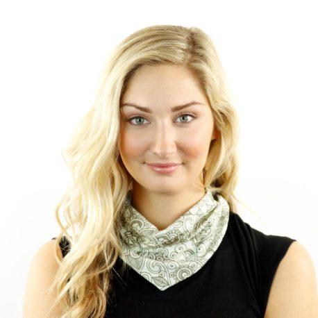 paisley doodle neck gaiter bandana