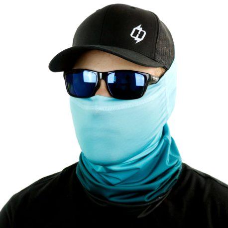 STM03 ombre teal fishing face mask bandana