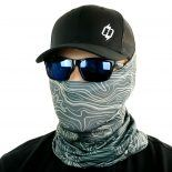 gray grey topo hiking face mask bandana