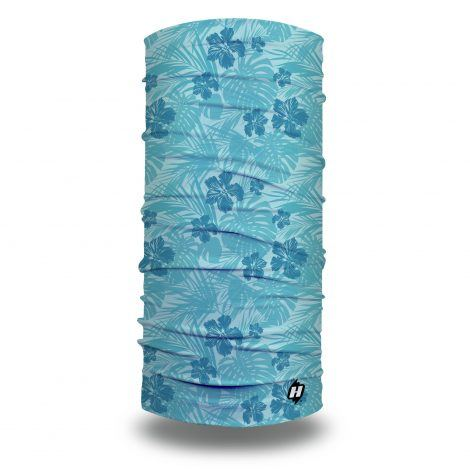 blue tropical camo fishing face mask bandana