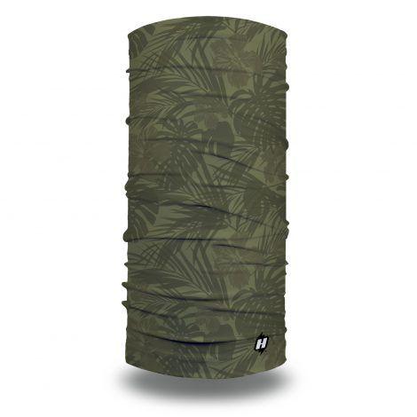 green tropical camo fishing face mask bandana