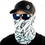 black fly fishing face mask bandana
