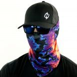 biology bloom neon fishing face mask bandana