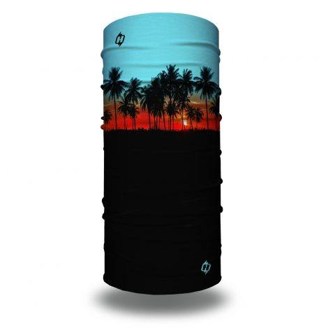 beach palms trees face mask bandana