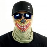 candy sugar skull tan motorcycle face mask bandana HRB20