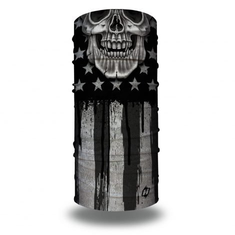 freedom flag grey gray american skull motorcycle face mask bandana HRB36