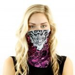 pink skull eighties rock motorcycle face mask bandana HRB38