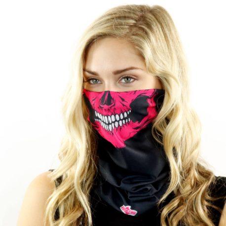 pink skull motorcycle face mask bandana HRB16
