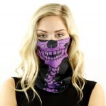 purple skull with spine motorcycle face mask bandana HRB19