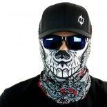 roses skull mandala paisley motorcycle face mask bandana HRB25