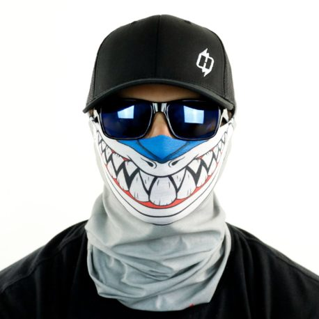 HRT07 shark fishing toon motorcycle face mask bandana front HRT07