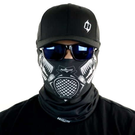 skull gas mask motorcycle face mask bandana front HRB08